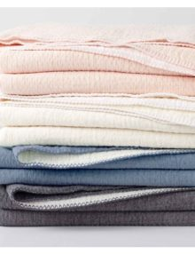 Coyuchi Cotton Blankets in various colors